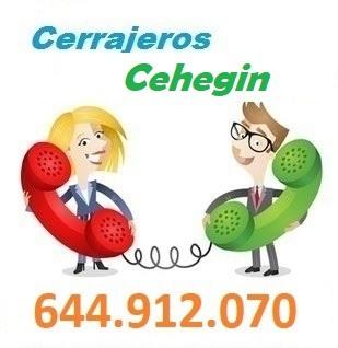Telefono de la empresa cerrajeros Cehegin